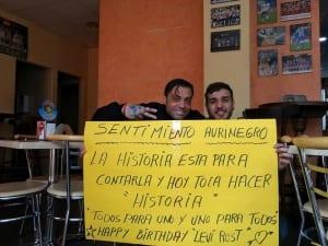 Alexis Navarro y Dasaev Rodríguez (Pre Partido Iberostar Tenerife vs Unicaja Málaga) Foto: Alexis Navarro