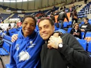 Cathy Boswell (medallista olímpica con USA) y Alexis Navarro