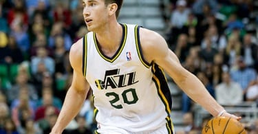 Oct 30, 2013; Salt Lake City, UT, USA; Utah Jazz small forward Gordon Hayward (20) dribbles the ball during the second half against the Oklahoma City Thunder at EnergySolutions Arena. Oklahoma City won 101-98. Mandatory Credit: Russ Isabella-USA TODAY Sports