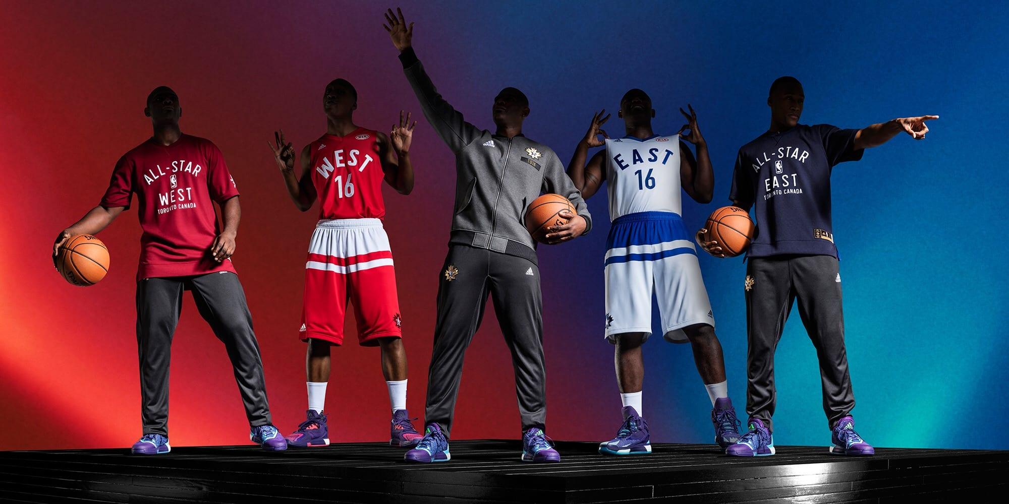 ADIDAS Y LA NBA PRESENTAN LAS EQUIPACIONES DEL NBA ALL-STAR 2016 ... 7ef907d4853